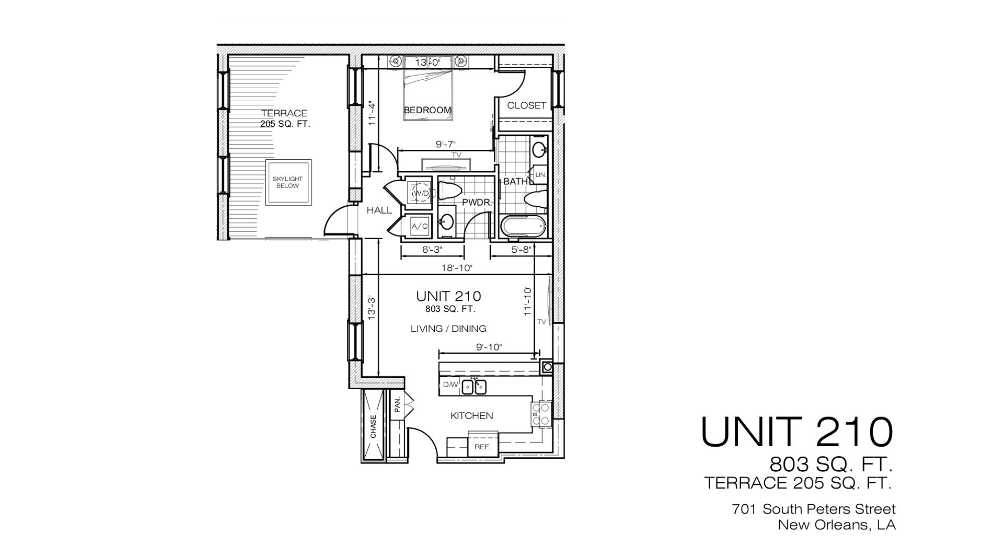701 S.Peters Refinery Unit 210 Floor Plan